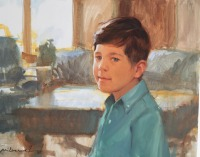 Boy in Turquoise Shirt